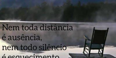 Mensagem para refletir sobre a distancia, e o silencio dos amigos!!!