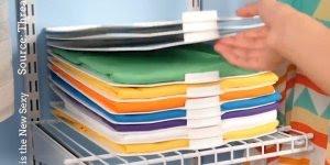 Objeto que ajuda você dobrar suas roupas com facilidade, vale a pena conferir!!