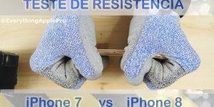 Teste de resistência entre o iPhone 7 e iPhone 8, qual você compraria?