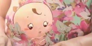 Como seria se o bebê pudesse falar na barriga da mamãe, muito fofo!