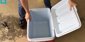 Cooler com caixa térmica de plástico, uma ideia muito interessante!!!