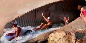 Descendo pelo túnel de água, e ai teria coragem? Veja que legal!