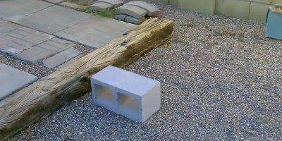 Fogão feito de blocos, uma boa ideia para quem tem que improvisar!