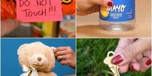 Ideias criativas para guardar coisas secretas na sua casa e escritório!