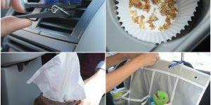 Ideias sensacionais para deixar seu carro sempre limpo e organizado!!!