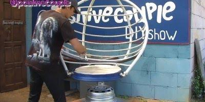 Olha só que legal que este cara faz com materiais recicláveis!!!