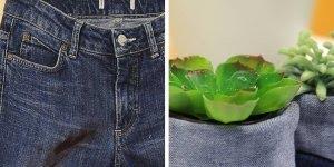 Olha só que maneira legal de reaproveitar aqueles jeans velhos!!!