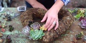 Trabalho incrivel com flores da especie Suculenta, confira que lindo!!!