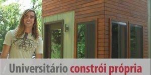 Universitário construiu sua próprio dormitório para fugir do aluguel caro!!!
