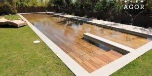 Vídeo com piscina muito legal, ela fecha toda e vira um lugar plano!!!