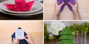 Vídeo muito legal ensinando como dobrar guardanapos de mesa de tecido!!!