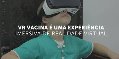 VR na vacina, um novo método de vacinar que acabam com choro e nervosismo!!!