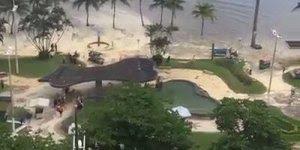Imagens impressionantes de uma ressaca que atingiu uma praia de Santos!!!