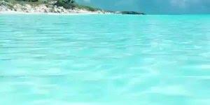Mar em Bahamas, é magnifico ver a água do mar cristalina!!!!