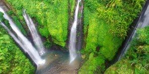 Sekumpul Waterfall, ponto turístico da Indonésia filmado por um Drone!