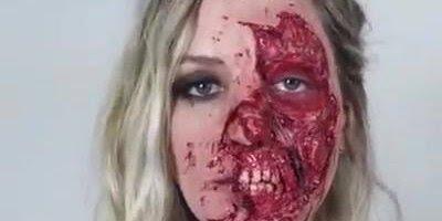 Maquiagem sinistra para matar de susto seus amigos no Halloween!!!