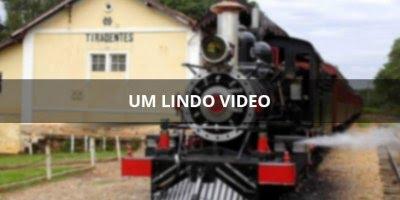 Linda imagem de Maria Fumaça saindo de São João Del Rei para Tiradentes!!!