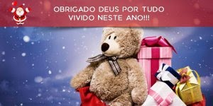 Mensagem de Natal com agradecimento à Deus por tudo vivido neste ano!!!