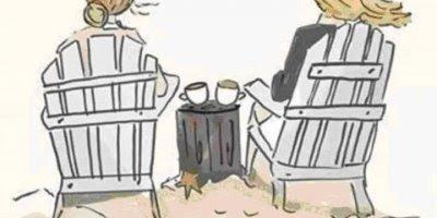 Mensagem de amizade, a única terapia é tomar um café com uma amiga!