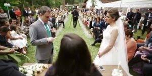 Vídeo com linda declaração de amor de noivo em casamento no campo!
