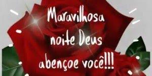 Boa noite com uma rosa vermelha, envie pelo Whatsapp agora mesmo!