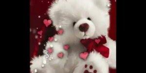 Boa noite romântico, para envie para seu amor com muitos corações!
