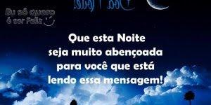 Mensagem de Boa Noite para Amigos! Que sua noite seja cheia de paz!!!