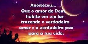 Que o amor de Deus habite seu lar te trazendo muita paz! Boa Noite!!!