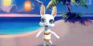 Uma coelhinha linda para dar boa noite a você amiga do meu coração !!
