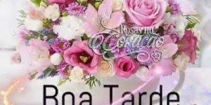 Vídeo de boa tarde amigos com muitas flores, compartilhe no Facebook!
