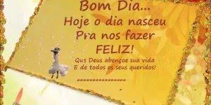 Mensagem de bom dia para amigo(a)! Hoje o dia nasceu para nos fazer feliz!!!