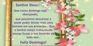 Mensagem de para desejar a todos amigos queridos um abençoado Domingo!!!