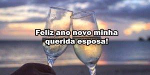 Mensagem de Ano Novo a esposa. Você é e sempre será o amor da minha vida!!!