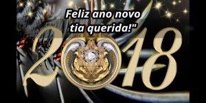 Mensagem de Feliz Ano Novo para tia. Te adoro tia querida!!!