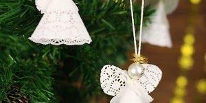 Anjo de papel para enfeitar sua árvore de Natal, aprenda como fazer!!!