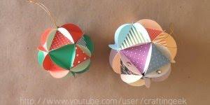 Como fazer Bolas Scrapbook para enfeitar seu Natal, genial!!!