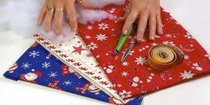 Guirlanda de Natal feita com tecido com enchimentos, super fácil e lindo!