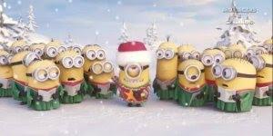 Lindinha mensagem de Feliz natal com essas criaturinhas fofas os Minions !