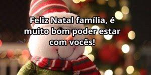 Mensagem de Natal em família, que Deus abençoe cada um de vocês!!!