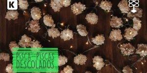 Pisca-piscas descolados com bolinhas de pingue-pongue e forminhas de doce!