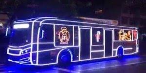 Que legal estes ônibus enfeitado para o Natal em São Paulo!!!