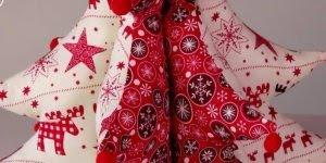 Tutorial de arvore de Natal de tecido, com enchimento, simplesmente fofa!!!