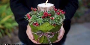 Tutorial de lindo porta velas para enfeitar sua mesa de Natal!!!