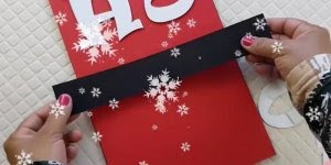 Tutorial de lindo quadrinho para decorar sua estante no Natal!!!