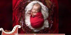 Vídeo com as mais lindas fotos de bebês com tema natalino!!!