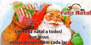Vídeo com mensagem de Natal com música Então é Natal, para Facebook!