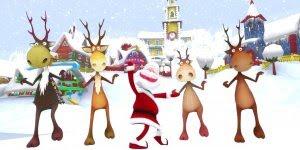 Vídeo de Natal com Papai Noel e seus servos dançando de forma divertida!