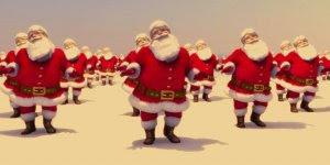 Vídeo de Natal com Papais Noéis dançando música dance natalina!