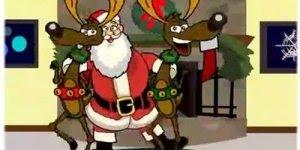Vídeo divertido de Papai Noel e seus ajudantes entregando presentes!