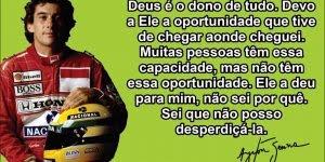Frases motivacionais do Ayrton Senna - Para compartilhar no Facebook!